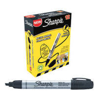Sharpie Metal Perm Marker Sml Chisel Blk - 12 Pack