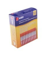 Nobo Liquid Ink Drymarkers Red - 12 Pack