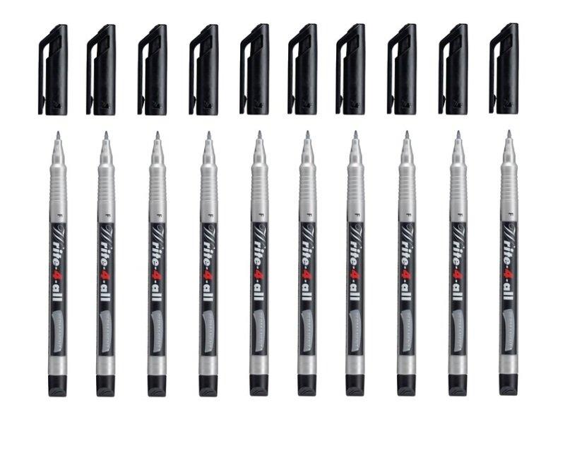 Stabilo Write 4 All Fine 0.7mm Line Blk - 10 Pack