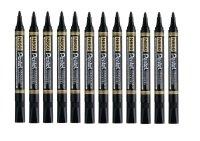 Pentel N850 Permanent Bullet Black Marker (12 Pack)