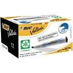 Bic Velleda Drywipe Marker Chisel Black - 12 Pack