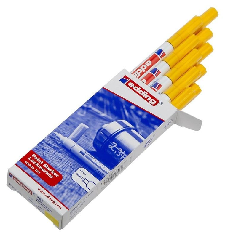 Image of Edding Paintmarker Opaque Yellow 750 - 10 Pack