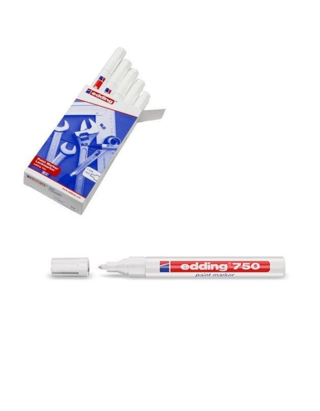 Image of Edding Paintmarker Opaque White 750 - 10 Pack