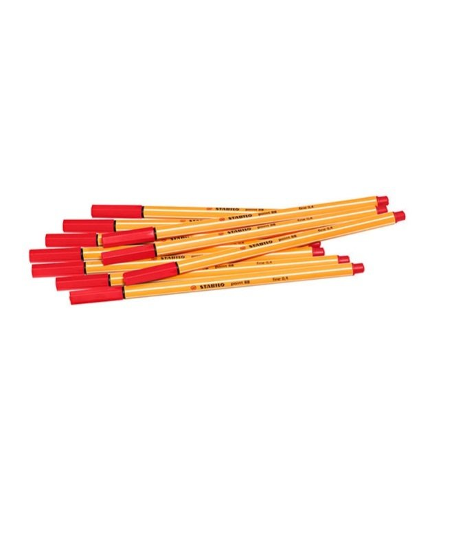 Stabilo Point88 Fineliner Red 88/40 - 10 Pack