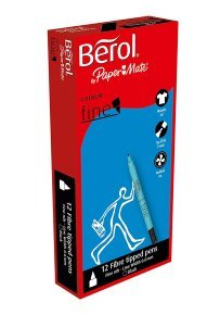 Berol Black Colourfine Pens (12 Pack) S0376300