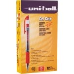 Uni-Ball Signo Gel Grip Red Rollerball Pen (12 Pack)