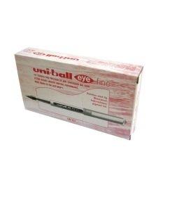 Unieye Fine Rollerball Red Ub157 - 12 Pack