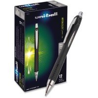Uni-Ball Jetstream Gel Rollerball Pen - Black (12 Pack)