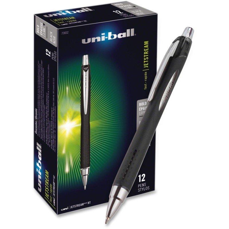 Uni-Ball Jetstream Gel Rollerball Pen - Black (12 Pack)