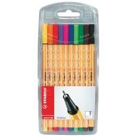 Stabilo point 88 Fineliner Pens Assorted (10 Pack)
