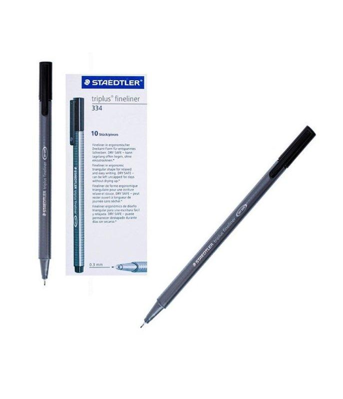 Staedtler Triplus Fineliner 0.3mm Black (Pack of 10)