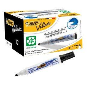 Bic Velleda Whiteboard Marker 1701 Black - (Pack of 12)