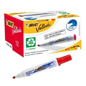 Bic Velleda Whiteboard Marker 1701 - Red (pk12)
