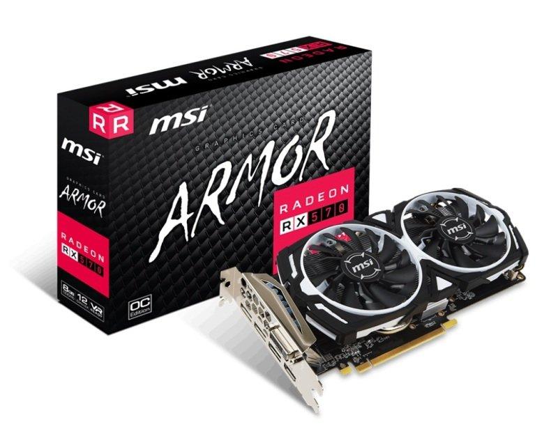MSI Radeon RX 570 ARMOR 8GB OC GDDR5 Graphics Card