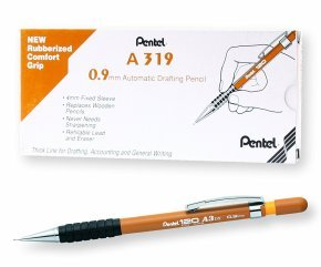 Pentel 120 Automatic Pencil Yellow Barrel (12 Pack )