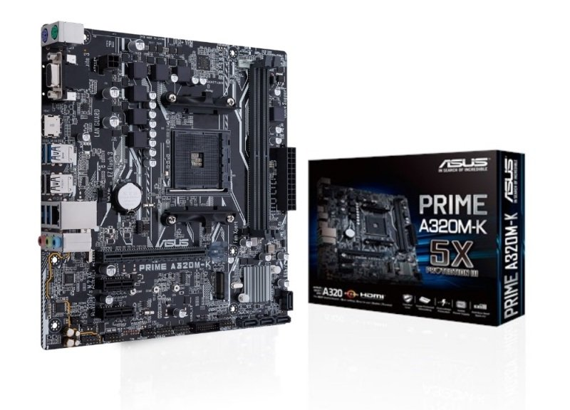 Asus PRIME A320M-K AM4 DDR4 mATX Motherboard...