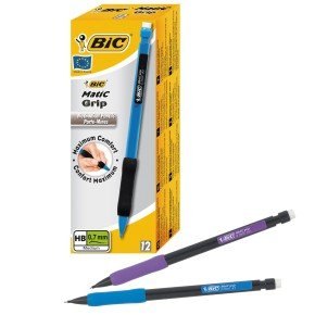 Bic Matic Grip Mechanicle Pencil Assorted 12 Pack