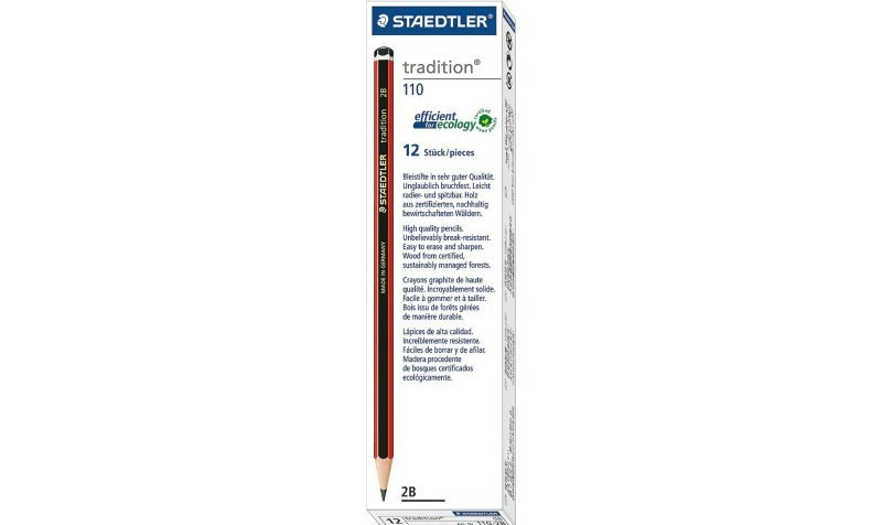 Staedtler Tradition Pencil 2b 110-2b - 12 Pack
