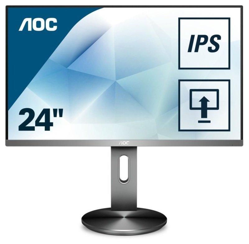 """AOC I2490PXQU/BT 23.8"""" IPS LCD Monitor"""