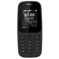 Nokia 105 Single SIM Mobile Phone (2017) - Black