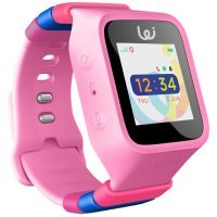 Pomo Waffle Pink Smart Watch - GPS Locator for Kids