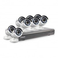 EXDISPLAY Swann DVR16-4550 16 Channel 1080p Digital Video Recorder with 8 x PRO-T853 Cameras