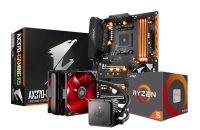 EXDISPLAY Gigabyte AX370-GAMING K5 Motherboard AMD Ryzen 5 1600X Processor and Seidon Cooler Bundle