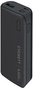 Cygnett 4400 mAh ChargeUp Sport Powerbank - Black/Grey