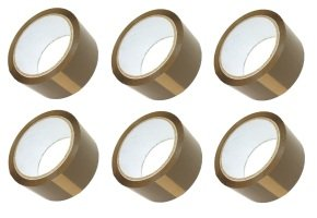 Extra Value Brown 50mm Wide Packaging Tape - 6 Pack