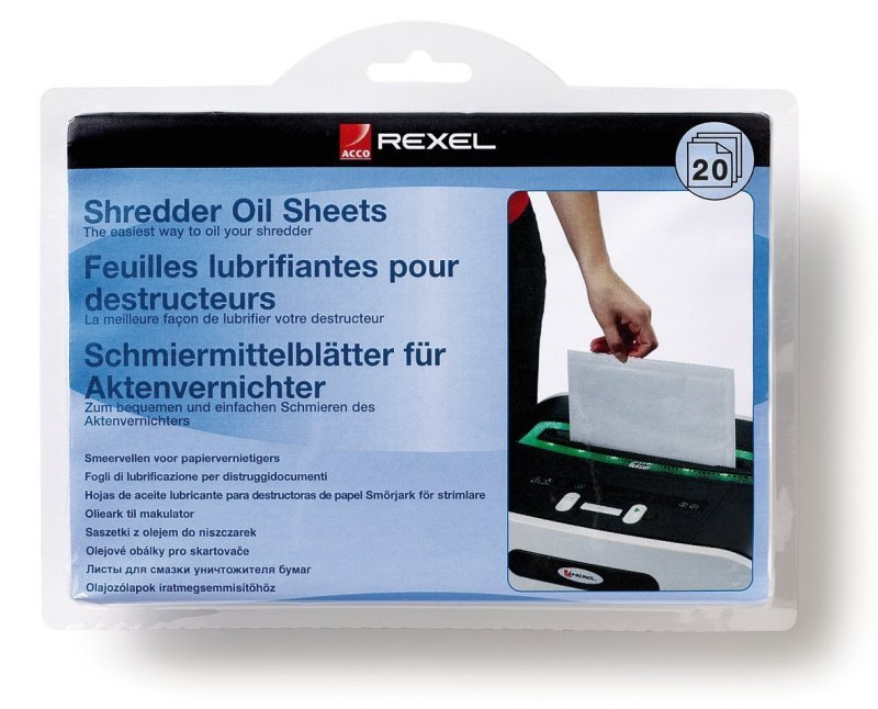 Rexel Shredder Oil Sheets - 20 Pack
