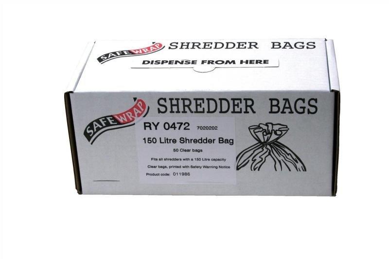 Safewrap 150 Litre Shredder Bags (Pack of 50)