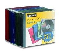 Fellowes Slimline CD Jewel Cases - Assorted (25 Pack)