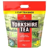 Yorkshire Tea One Cup Tea Bags (Pack of 1200)