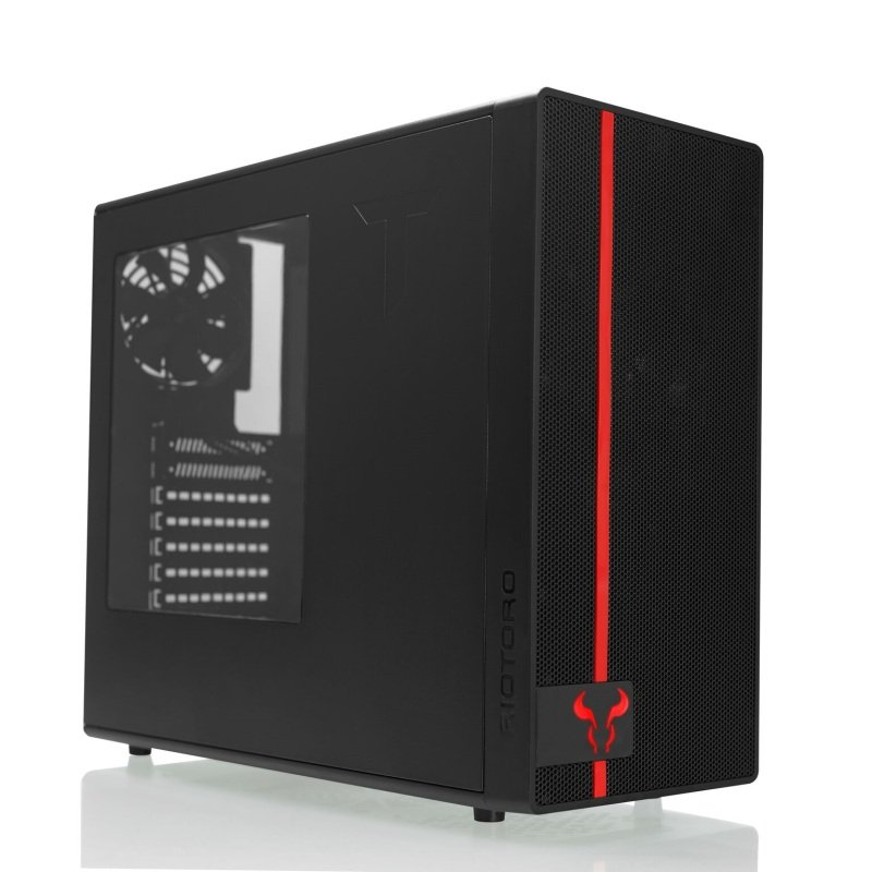 Riotoro Mid Tower ATX Case with 120mm Red LED Fan