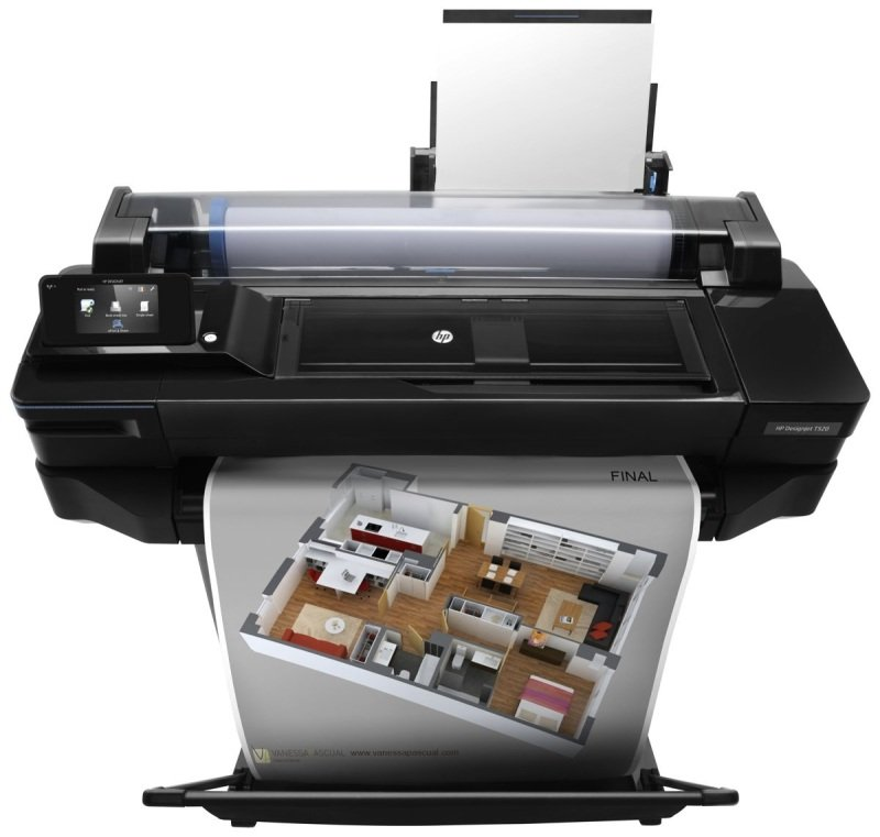 HP DesignJet T520 24-in Wireless Large Format Printer