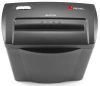 Rexel Alpha Cross-Cut Shredder - Black/Silver