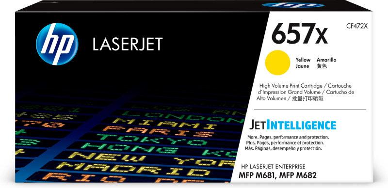 HP 657X High Yield Yellow Toner Cartridge - CF472X