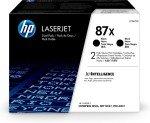 HP 87X High Yield Black Toner Cartridge - Dual Pack - CF287XD