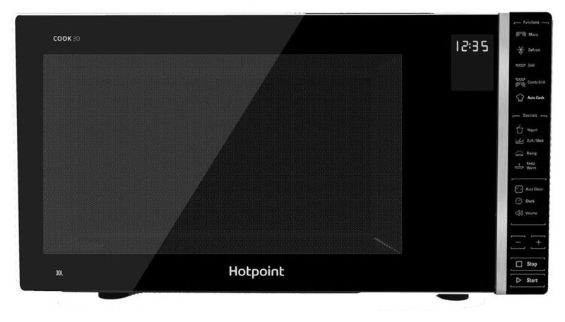 Hotpoint 1000W Solo Microwave MWH301B - Black