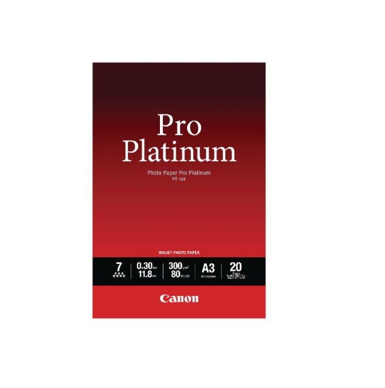 Canon Photo Paper Pro Platinum Photo Paper A3 300gsm 20 Sheets