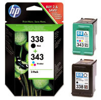 HP 338/343 Multi-pack 1x Black, 1x Tri-Colour OriginalInk Cartridge - Standard Yield480/330 Pages - SD449EE