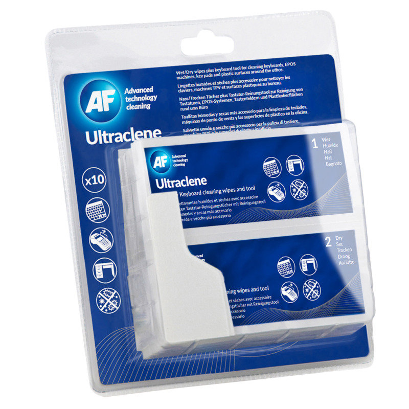 AF Ultraclene Keyboard Cleaning Wipes (10 Pack)