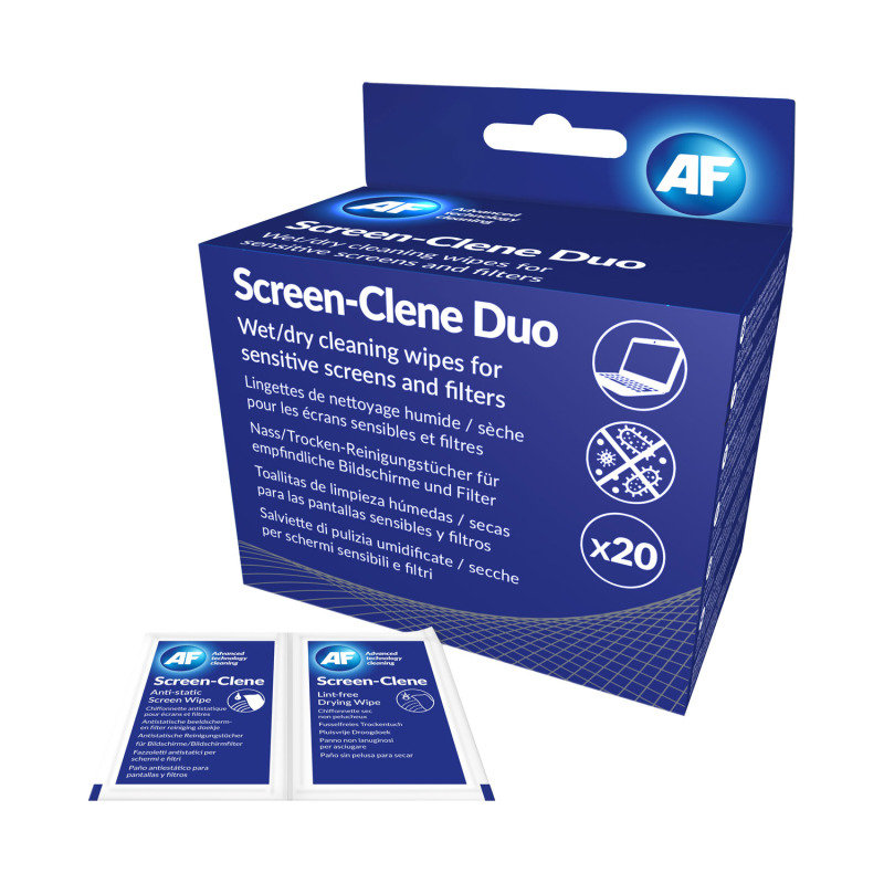 AF Screen Clene Duo Wipes  (20 Pack)