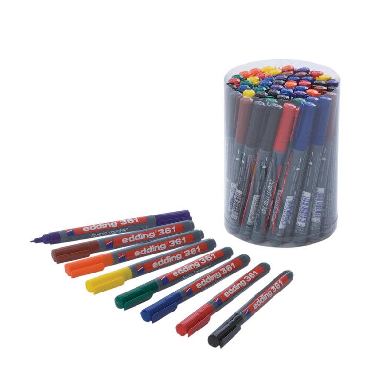Edding 361 Assorted Drywipe Marker (50 Pack)