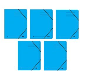 Elba Strongline 9 Part Blue File (Pack of 5)