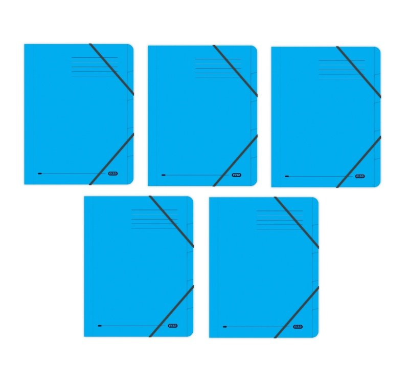 Elba Strongline 5 Part Blue File (Pack of 5)