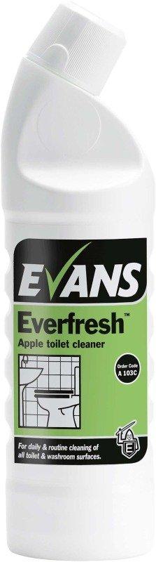 Evans Everfresh Apple Toilet Cleaner 1 Litre (1 Pack)