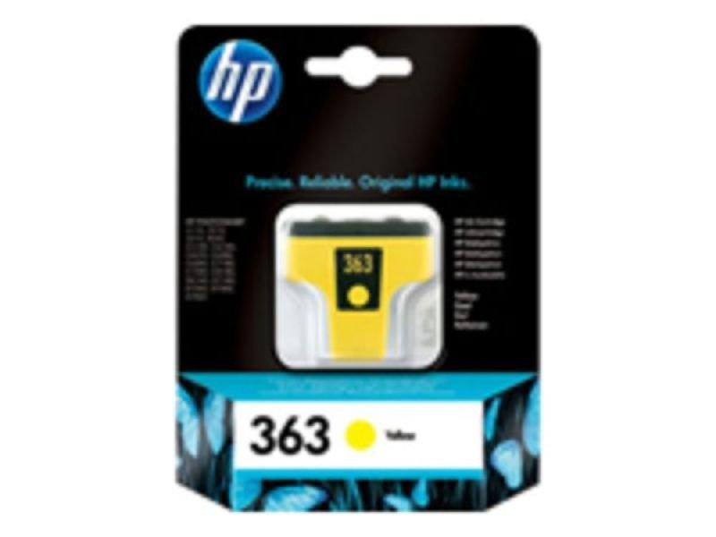 HP 363 Yellow	Original Ink Cartridge - Standard Yield 500 Pages - C8773EE