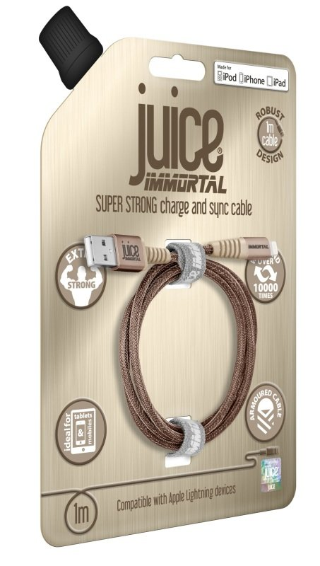 Juice Immortal Cable 1m Lightning Gold 1M