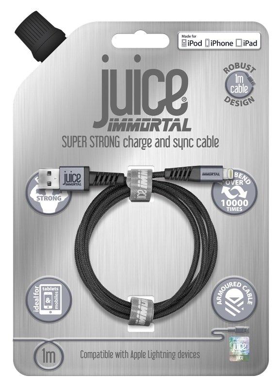 Juice Immortal Cable 1m Lightning - Grey